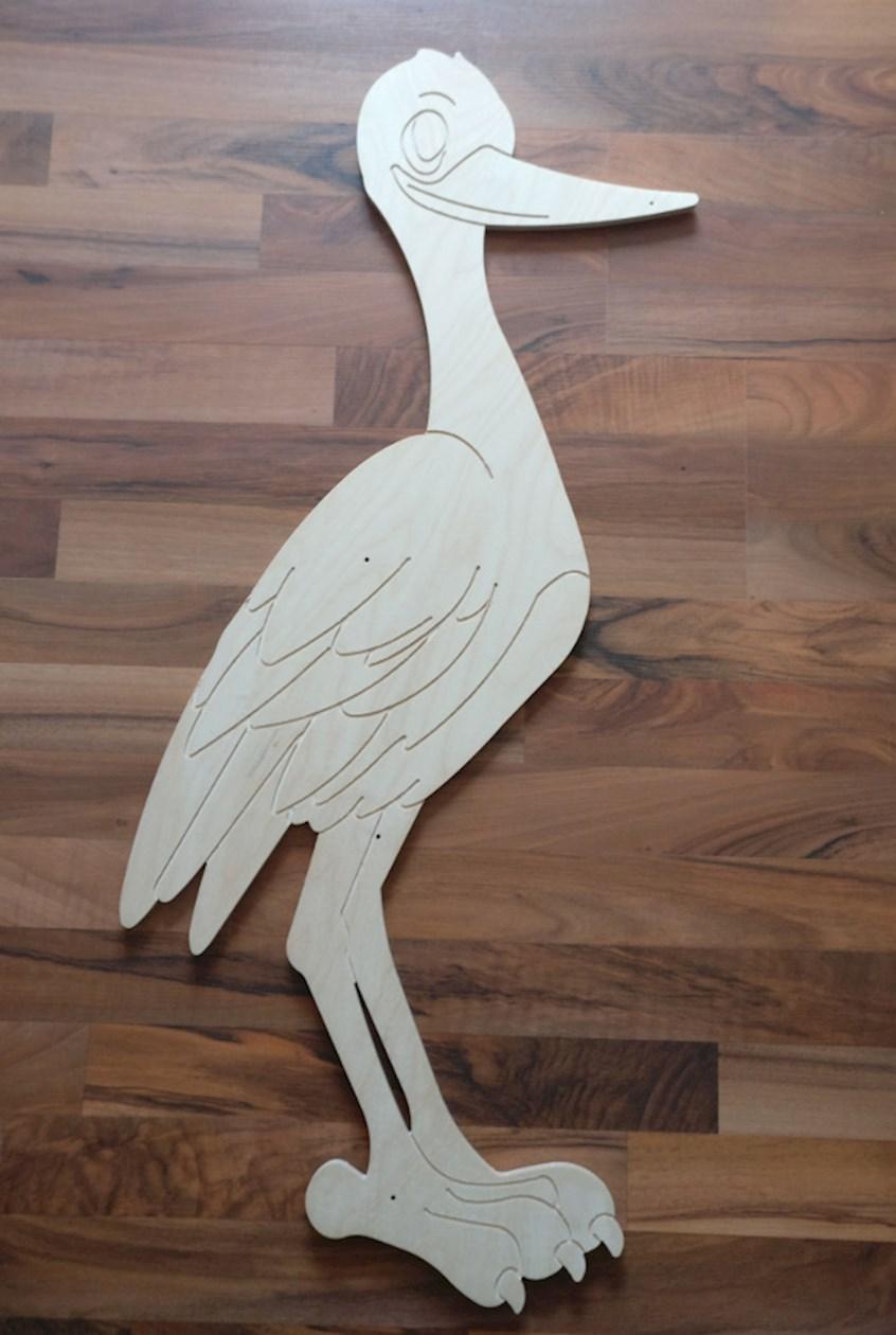 Baby Storch Aus Holz Zum Selber Machen Selber Basteln