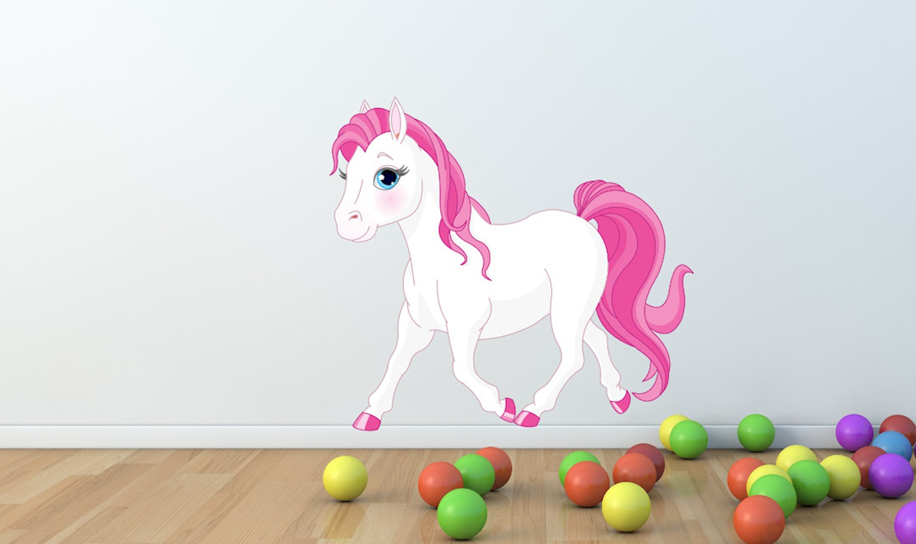 Pferde Wandtattoo - süße Wandaufkleber mit Pferden