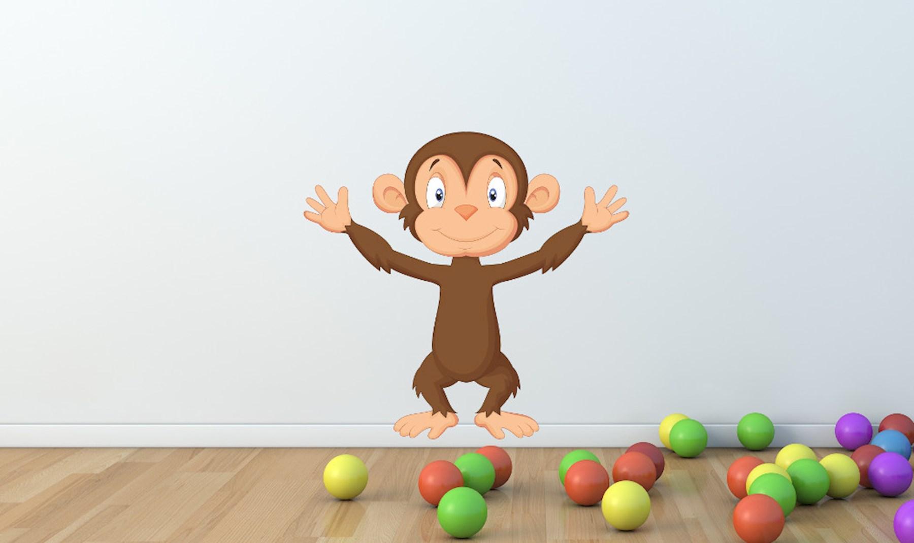 Süßes Affen Wandtattoo - XL Wandsticker Affe ab 9,90