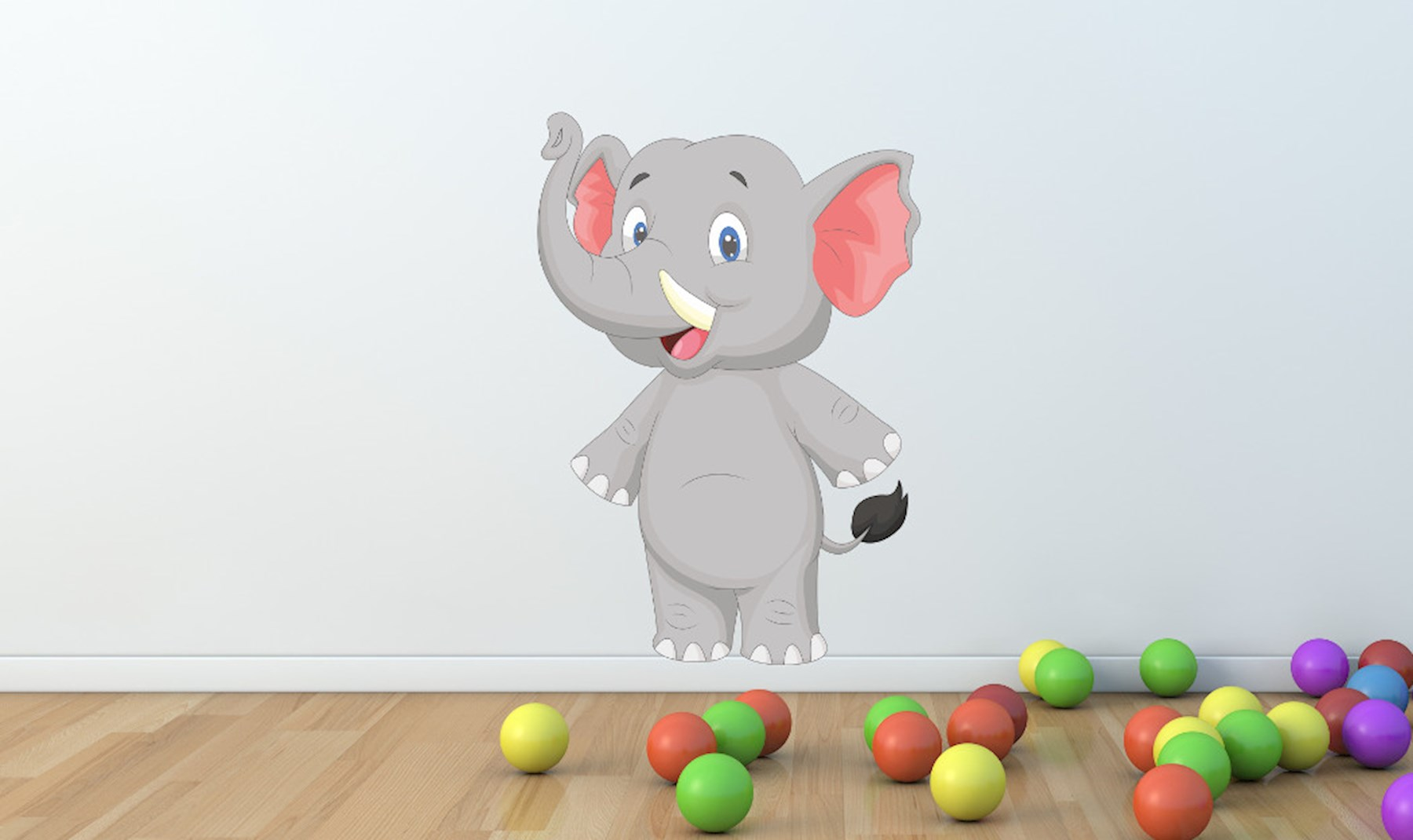 Süßes Elefanten Wandtattoo - XXL Wandsticker mit Elefanten ab 9,90