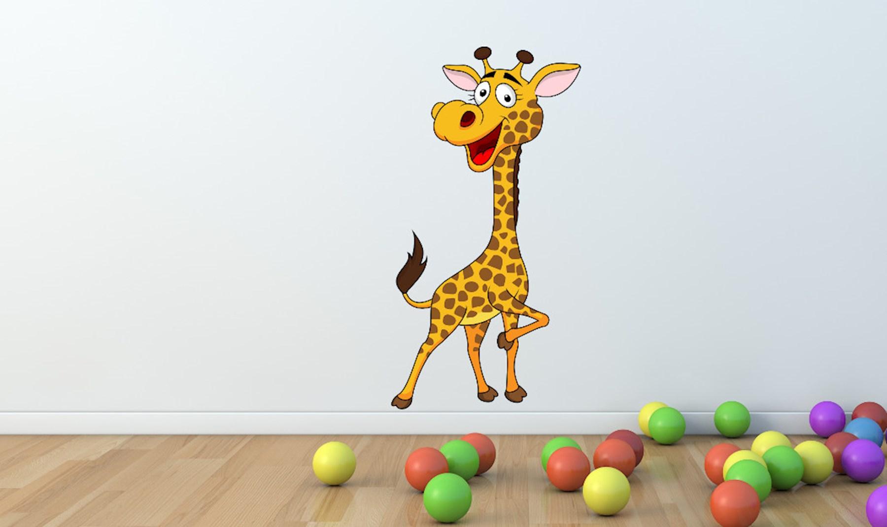 Giraffen Wandtattoo - süße Afrika Wand Sticker - Giraffen ...