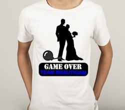 Shirt Polterabend fürs TEAM: GAME OVER