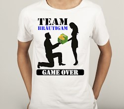 T-Shirt Poltern fürs TEAM: Game Over, take his money