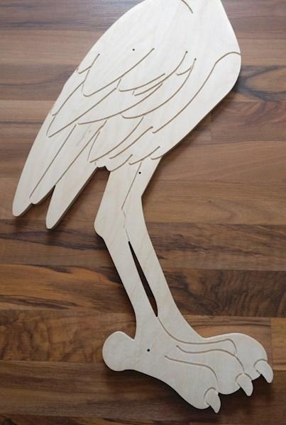 baby storch aus holz zum selber machen selber basteln selbst bemalen. Black Bedroom Furniture Sets. Home Design Ideas