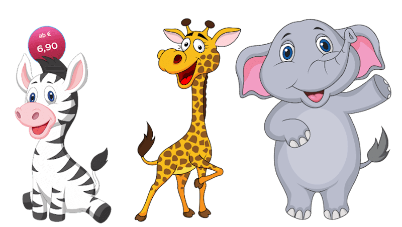 Kinderzimmer wandgestaltung giraffe  süße Sticker Aufkleber und Wandtattoos - Kinderzimmer Wandtattoo